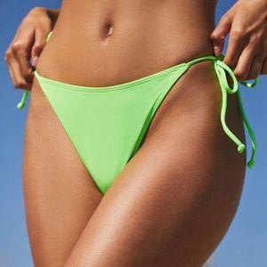 LA Hearts Neon Green Bikini Bottom